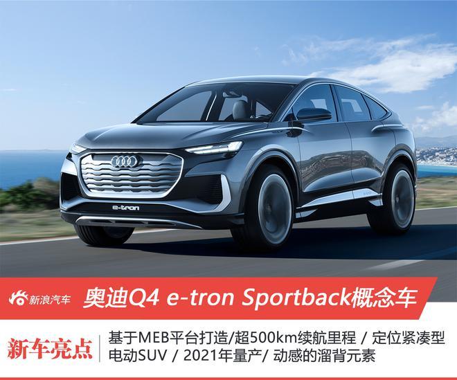 奥迪Q4e-tronSportback概念车全球首秀