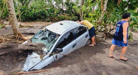 """受台风""""天鹅""""袭击菲律宾殒命人数上升至22人 第2张"""