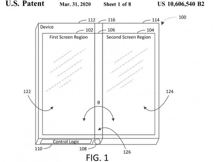 新专利暗示微软未来可能研发有三块屏幕的可折叠设备
