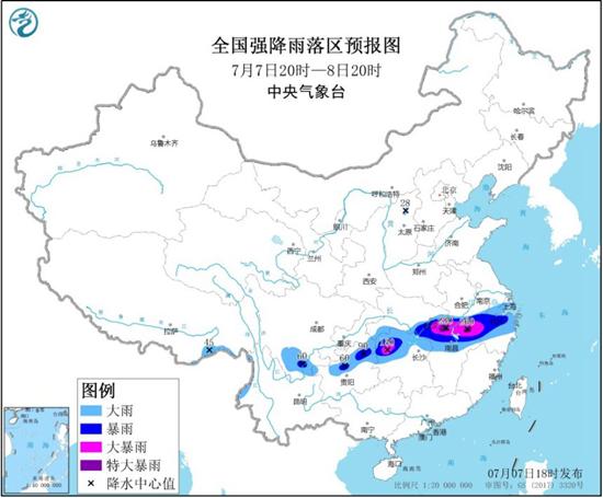 今年首个暴雨橙色预警!湖北江西安徽等地局地有特大暴雨