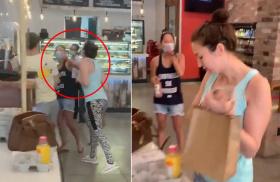 纽约女子在商店内不戴口罩被指出 故意朝他人咳嗽