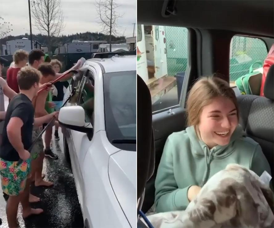 哭笑不得!父亲发现女儿看洗车少年入迷付钱雇其洗车调侃女儿