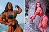 俄罗斯28岁健身女子不介意丈夫肌肉比自己小