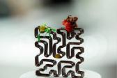 美味巧克力雕塑由3D巧克力打印机完成