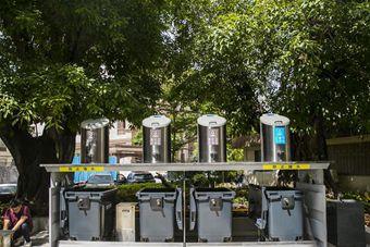 深圳:首个社区地埋式垃圾桶投入使用