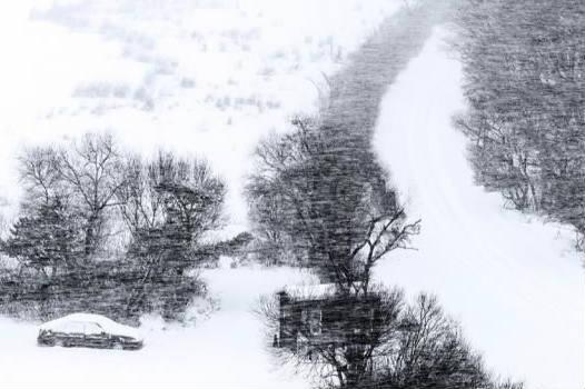 """中俄最大界湖兴凯湖冬日里现""""黑白世界"""""""